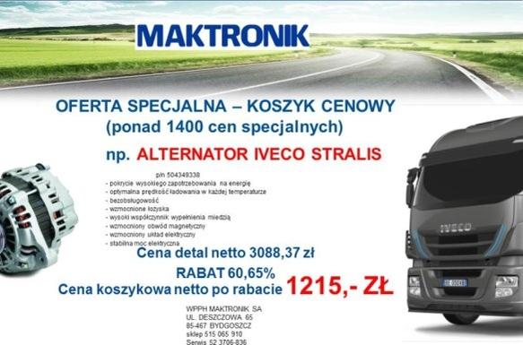 ALTERNATOR STRALIS - KOSZYK CENOWY