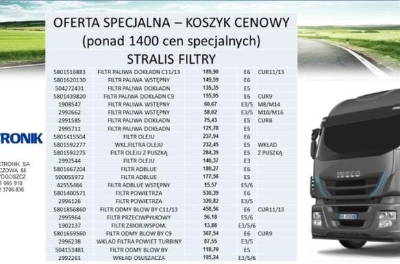 FILTRY STRALIS - KOSZYK CENOWY